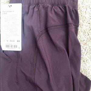 Lululemon Plum Pace Breaker Shorts Lined